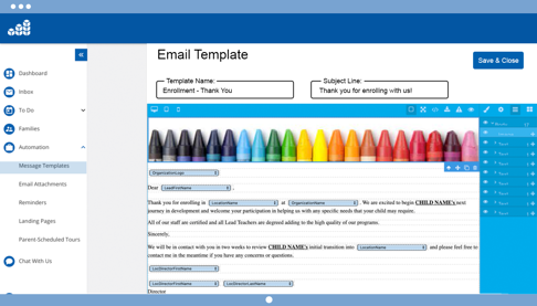 CRM+ Email Template Builder